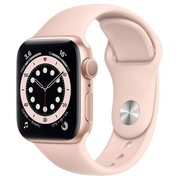 Часы Apple Watch Series 6 GPS 40mm Gold Aluminum Case with Pink Sand Sport Band